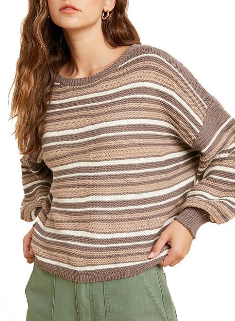 Wishlist Women's Colorblock Striped Knit Sweater