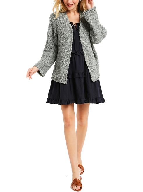Wishlist Fuzzy Open Front Women's Cardigan