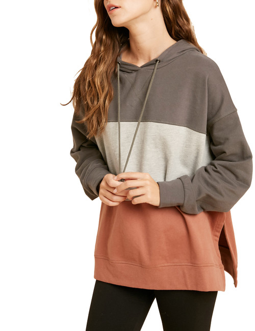 Wishlist Women's Colorblock Hoodie Sweatshirt