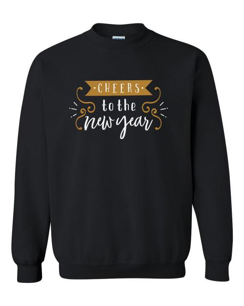 Cheers to the New Year Festive Unisex Adult Crewneck Sweatshirt