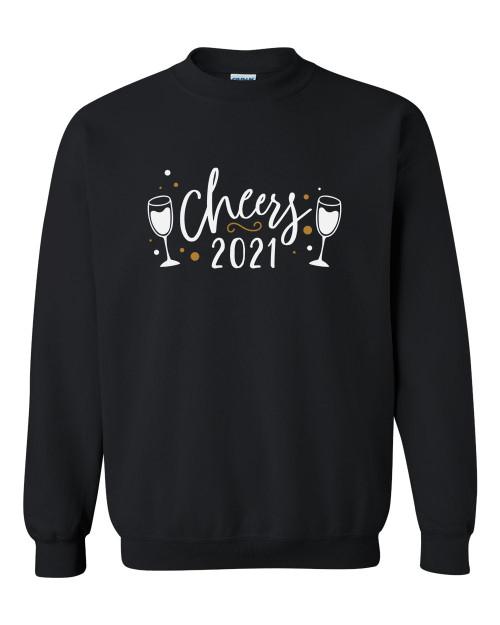 Cheers 2021 Champagne Glass Unisex Adult Crewneck Sweatshirt