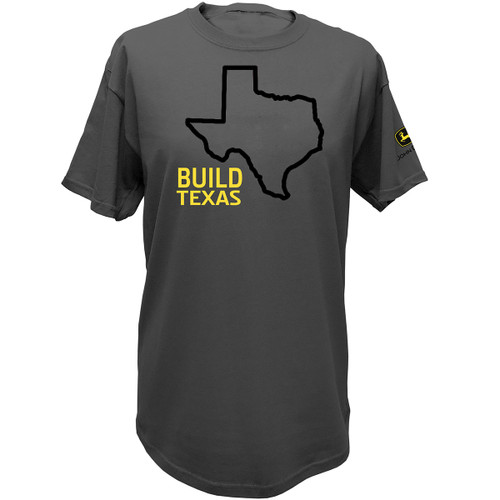John Deere State Pride Farm USA United States Outline Short Sleeve T-shirt