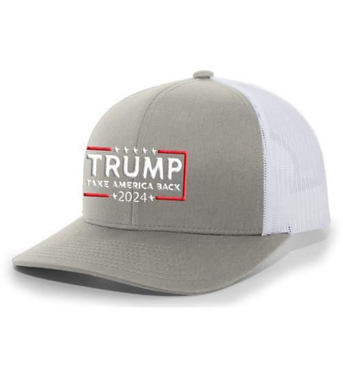 Trump 2024 Take America Back Republican Conservative Mesh Back Trucker Hat