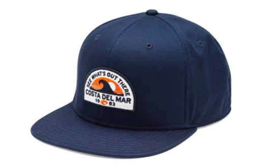 Costa Del Mar Embroidered Maverick Snapback Hat, Navy Blue