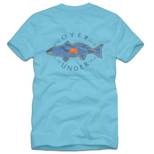 Over Under Coastal Conservation Fish Sporting Fishing Outdoors Adult Unisex Short Sleeve T-Shirt
