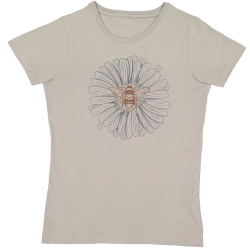John Deere Women's Titanium Short Sleeve T-shirt Flower & Bee