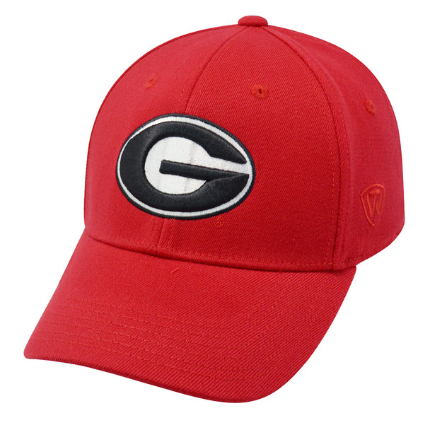 buy popular 57d86 4f475 Top of the World NCAA Georgia Bulldogs UGA Team Color Red  Premium   Collection Memory Fit Hat
