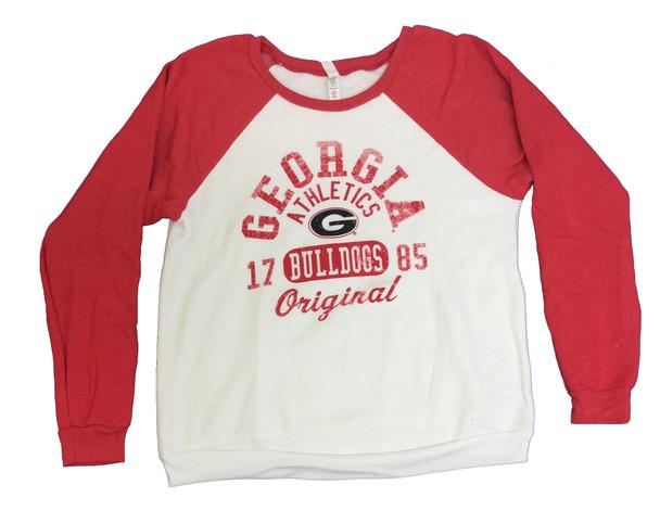 purchase cheap e6592 ea874 Blue 84 Georgia Bulldogs Juniors Cozy Fleece Crew Sweatshirt