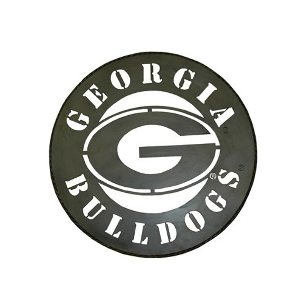 wholesale dealer 62d2b fdaee Jenkins Enterprises NCAA Georgia Bulldogs Circle Metal Wall Art, 24 in  Diameter