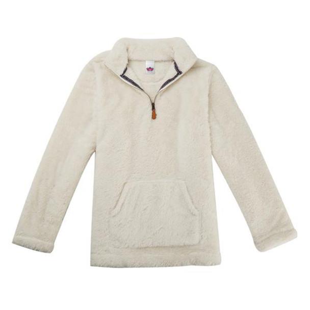 Katydid Women's Long Sleeve Kangaroo Pocket Sherpa Pullover