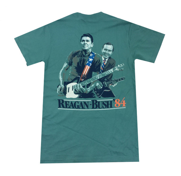 Reagan Bush Guitar Design Short Sleeve T-shirt