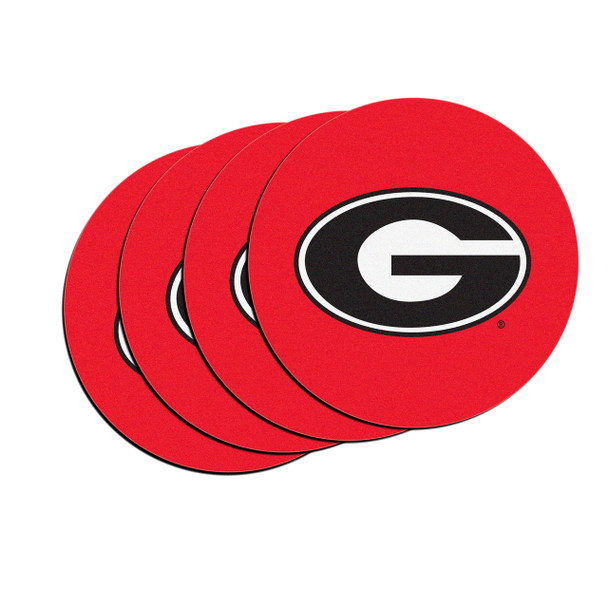 Boelter Brands NCAA Georgia Bulldog 4 Pack Neoprene Car Coasters