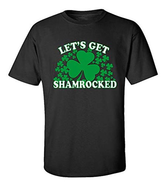 Funny St. Patrick's Day Let's Get Shamrocked Adult Short Sleeve T-Shirt