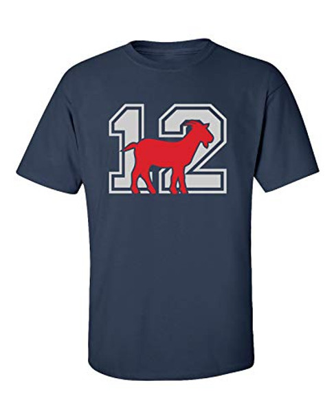 Patriots New England #12 GOAT Adult Unisex Short Sleeve T-Shirt