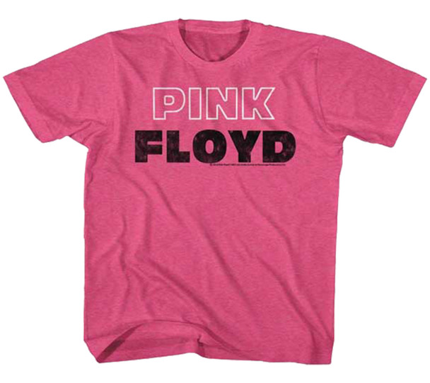 American Classics Pink Floyd Pnk Wht Outline Kid's T-Shirt