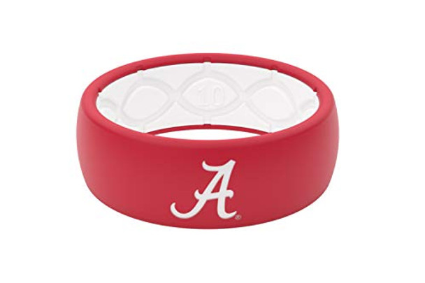 Groove Life NCAA Alabama Crimson Tide Crimson & White Silicone Ring