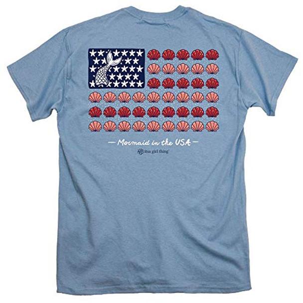Itsa Girl Thing Mermaid Flag Short Sleeve T-shirt
