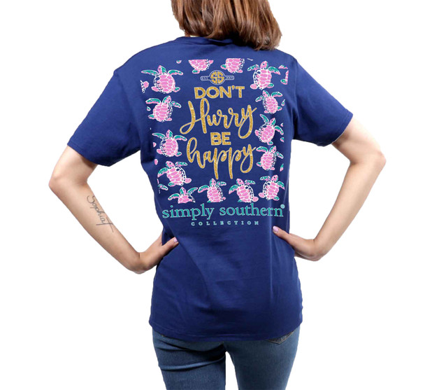 Simply Southern Youth Don't Hurry Short Sleeve Pocket T-shirt