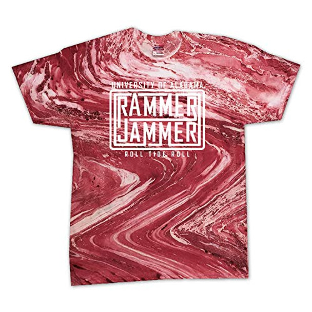 Campus Collection Alabama Ram Jam Lines Marble Unisex Short Sleeve T-shirt