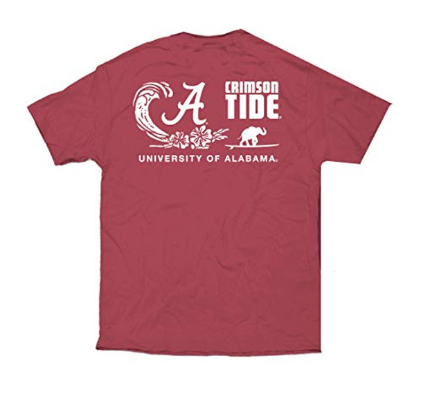 Campus Collection Alabama Elephant Surfboard Unisex Short Sleeve Pocket T-shirt