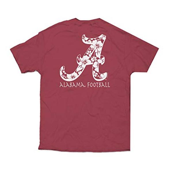 Campus Collection Alabama Hawaiian Script Flying A Unisex Short Sleeve Pocket T-shirt