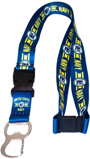 H3 Sportgear U.S. Navy Lanyard with Bottle Opener