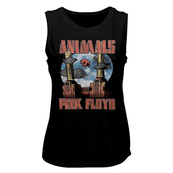 American Classics Pink Floyd Animals Ladies Muscle Tank