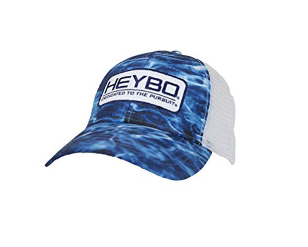 Heybo Outdoors Mossy Oak Bonefish Blue Adjustable Mesh Back Trucker Hat