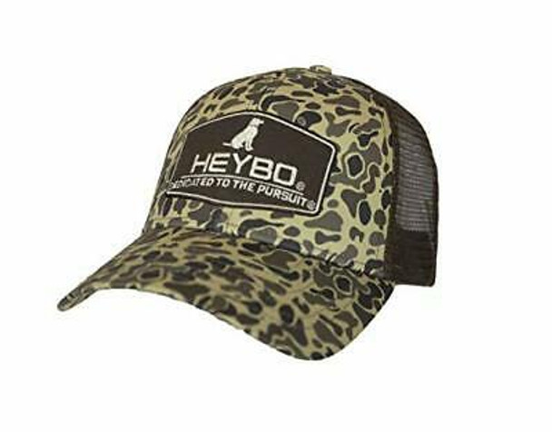Heybo Outdoors Club Series-Lab Old School Camo Adjustable Mesh Back Hat