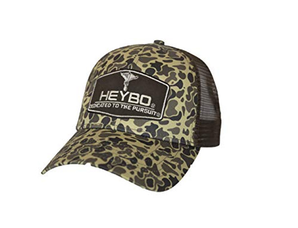 Heybo Outdoors Club Series-Foots Old School Camo Adjustable Mesh Back Hat