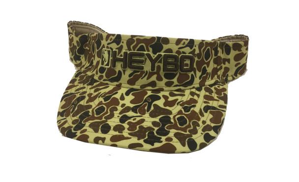 Heybo Old School Brown Camo Visor