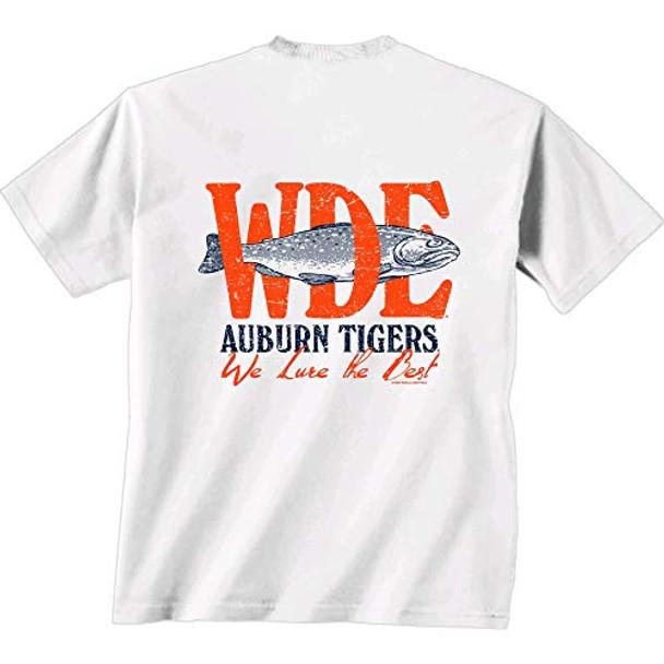 New World Graphics NCAA Auburn Tigers We Lure Short Sleeve Shirt
