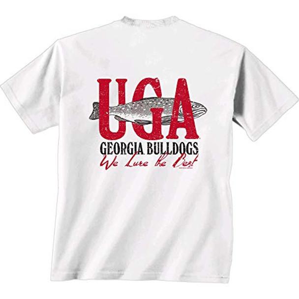 New World Graphics NCAA Georgia Bulldogs We Lure Short Sleeve Shirt