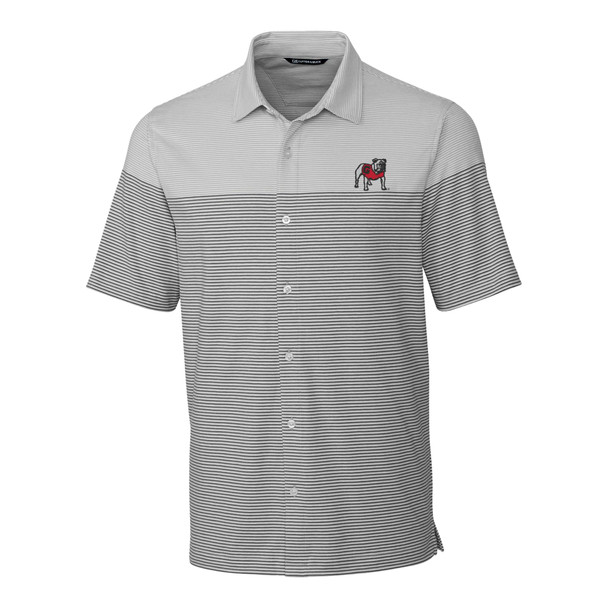 Cutter & Buck Georgia Bulldogs Pioneer Stripe Polo