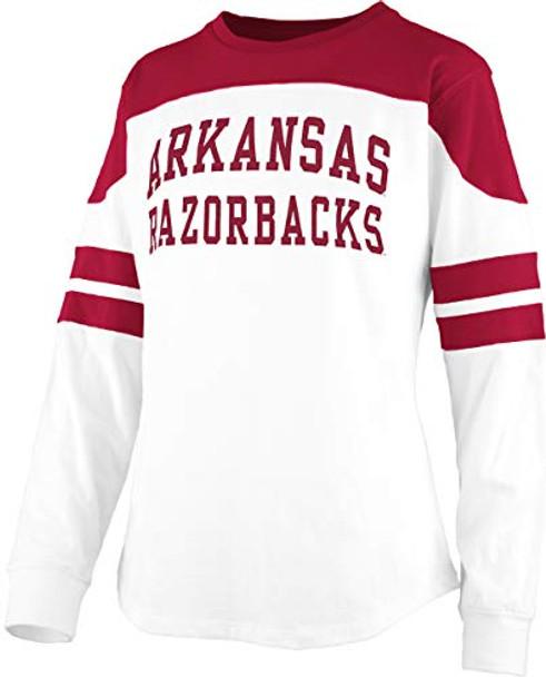 Pressbox NCAA University of Arkansas Razorbacks Half Back Long Sleeve Tee