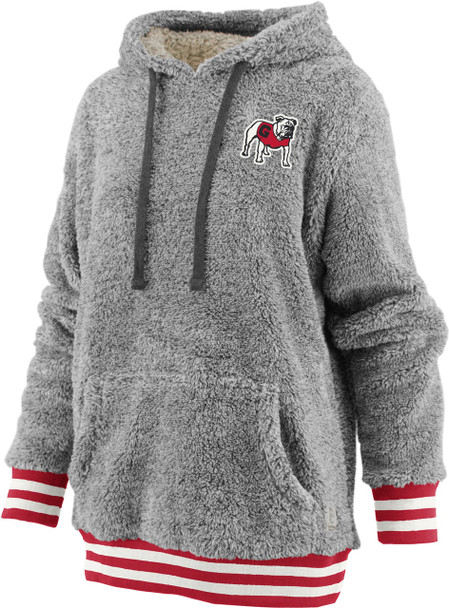 Pressbox Women's NCAA Georgia Bulldogs Kandi Long Sleeve Shaggy Hooded Pullover