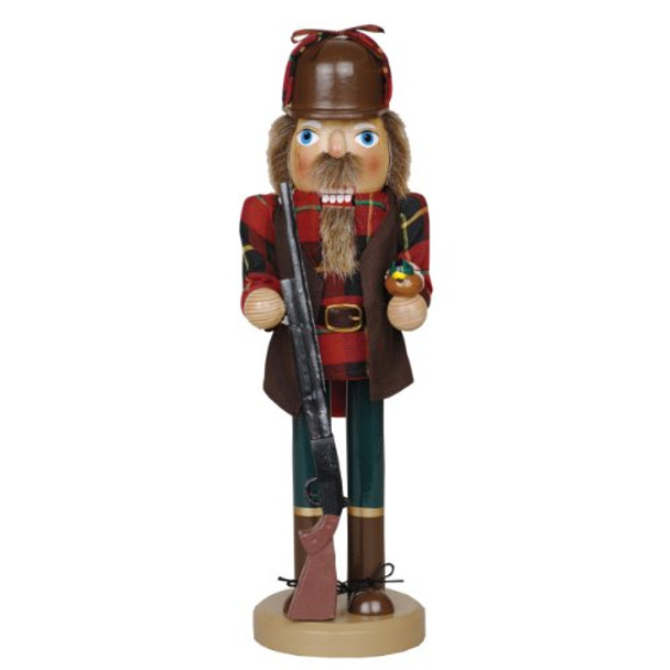 Santa's Workshop Duck Hunter with Gun Wooden Christmas Nutcracker 14 Inch Hunting Decoration New