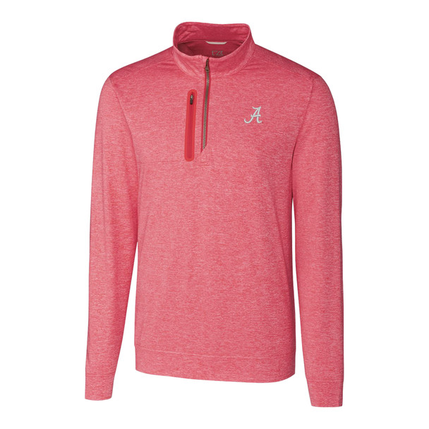 Cutter & Buck Alabama Crimson Tide Long Sleeve Stealth Half Zip