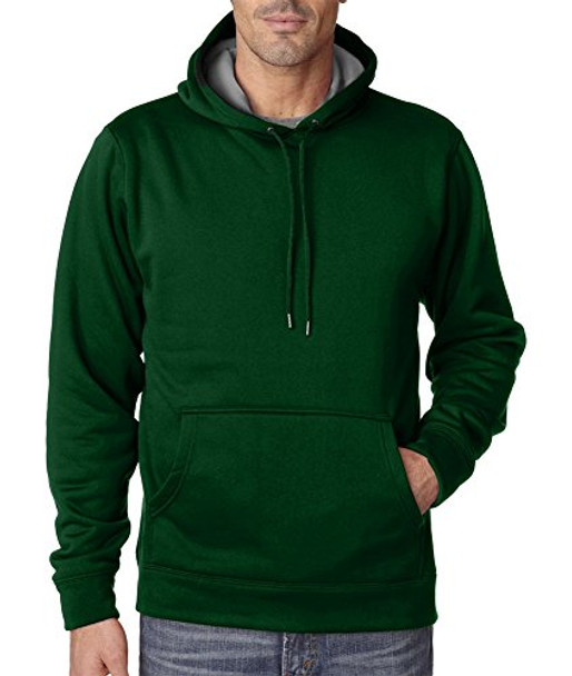 UltraClub Mens Cool & Dry Sport Hooded Fleece (8441)