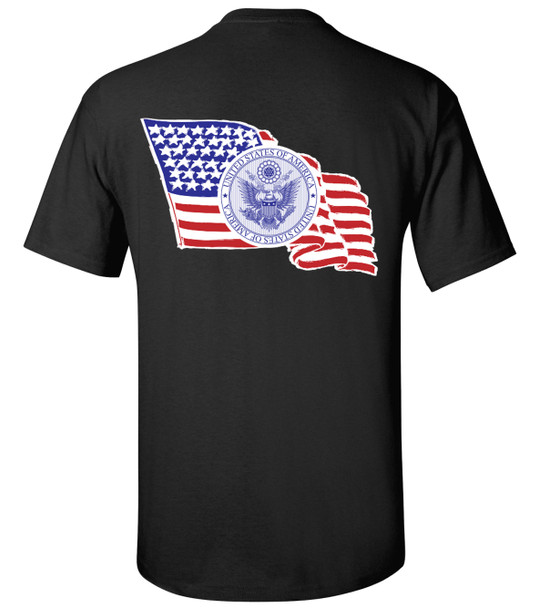 United States of America Flag and Seal Unisex T-Shirt