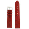Red Leather Watch Band with Alligator Grain by Tech Swiss - Top View