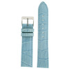 Light Blue Leather Watch Band in Alligator Grain - Top View