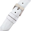 White Patent Leather Watch Band with Crocodile Grain Print by Tech Swiss - Buckle View