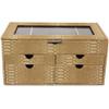 Large Jewelry Box Chest Organizer Animal Print in Beige Brown