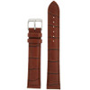 Watch Band with Alligator Grain in Brown by Tech Swiss - Top View