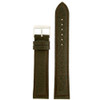 Extra Long Leather Watch Band in Brown - Front View
