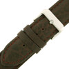 Extra Long Leather Watch Band in Brown - Buckle View