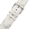 Ostrich Band in white with stainless steel - buckle view