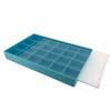 Storage Box 24 Compartment Craft Organizer Tray-Blue - Main