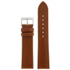 Leather Watch Band in Honey Brown by Tech Swiss - Top View